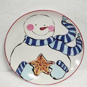 """Rosanna Dining - Rosanna Christmas Plates Snowman 8"""" Set Of Four"""